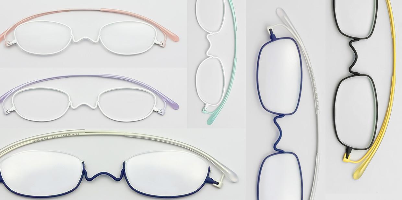 老眼鏡 ペーパーグラス ピライト 2TONE