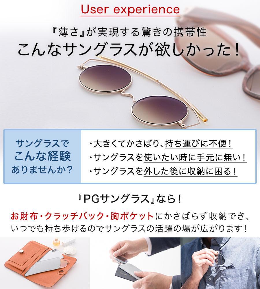 こんなサングラスが欲しかった!お財布、ポーチ、胸ポケットに収納、携帯できる薄型サングラス
